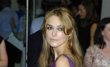 Keira Knightley Purple Dress