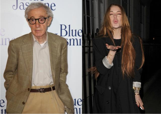 Woody Allen and Lindsay Lohan