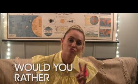 "Miley Cyrus Plays ""Would You Rather"""