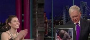 Biel Brings Letterman Up to Speed