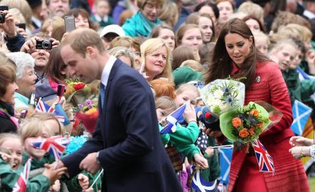 Prince William, Kate Middleton Shake Hands