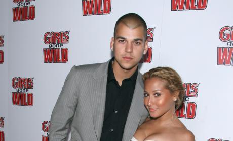 Rob Kardashian Adrienne Bailon 2008 Girls Gone Wild Party