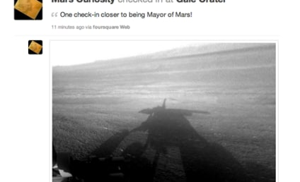 Mars Curiosity Checks in on Foursquare