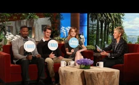 "The Amazing Spider-Man 2 Cast Plays ""Never Have I Ever"" on Ellen"