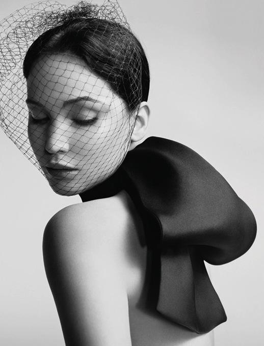Jennifer Lawrence in Black/White