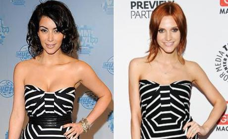 Fashion Face-Off: Kim Kardashian vs. Ashlee Simpson-Wentz