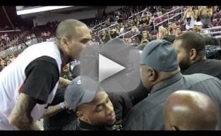 Chris Brown FLIPS OUT on Basketball Fans