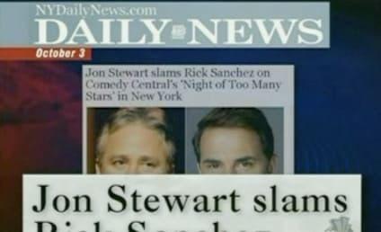 Jon Stewart Goes Easy on Rick Sanchez, Mocks the Media