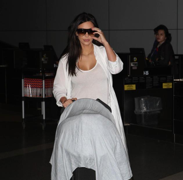 Kim Kardashian with a Stroller