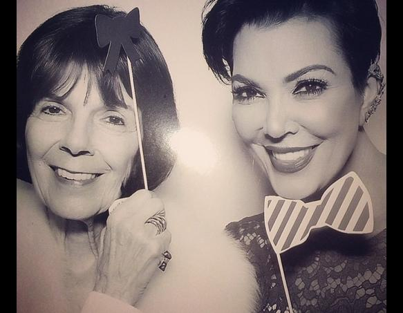 Kris Jenner with a Bow Tie