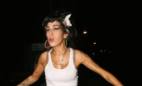 Devastated Amy Winehouse