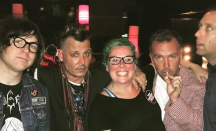 Johnny Depp Hangs With Controversial Friend, Sports Dumb Haircut