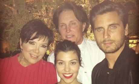 Kourtney, Scott, Kris and Bruce