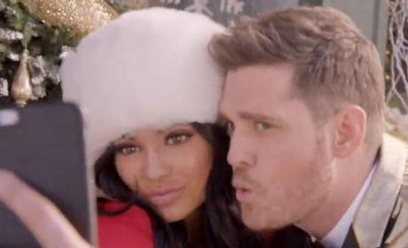 Kylie and Michael Buble Selfie