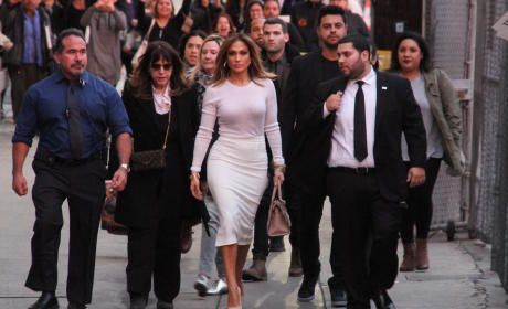 Jennifer Lopez Arrives at Jimmy Kimmel Live!
