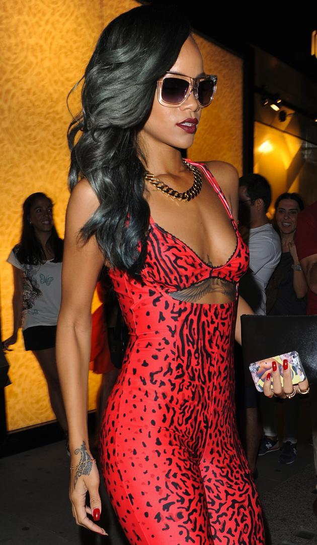 Rihanna Revealing Dress