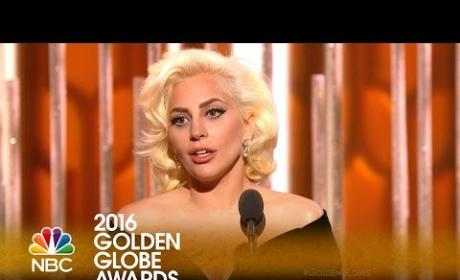 Lady Gaga Wins First-Ever Golden Globe!