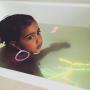 North West Takes a Bath