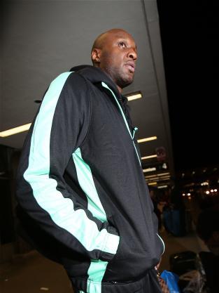 Lamar Odom at LAX