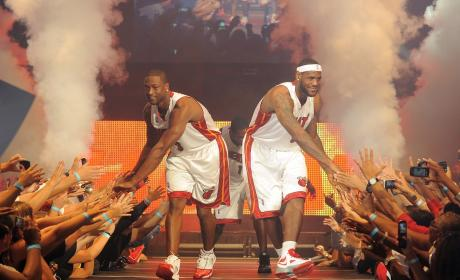 LeBron James and Dwyane Wade