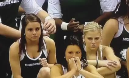 Michigan State Cheerleader Injured in Scary Fall