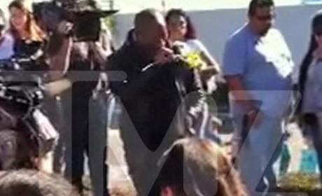 Tyrese Breaks Down at Paul Walker Crash Site