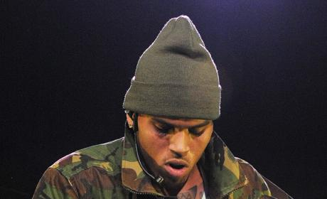 Chris Brown Grabs Crotch