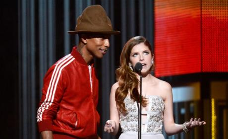 Pharrell and Anna Kendrick