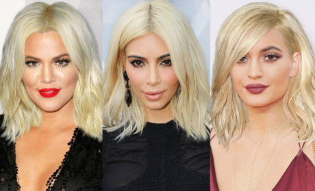Kylie as a Blonde: Kompare, Kontrast with These Kardashian Kuts
