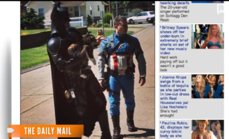Men Dressed as Batman, Captain America Actually Rescue Cat from Burning Home