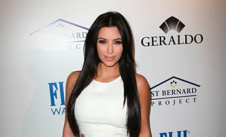 Kim Kardashian White Slash Dress Southern Style Beverly Hills