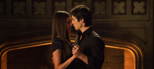 Elena and Damon on The Vampire Diaries