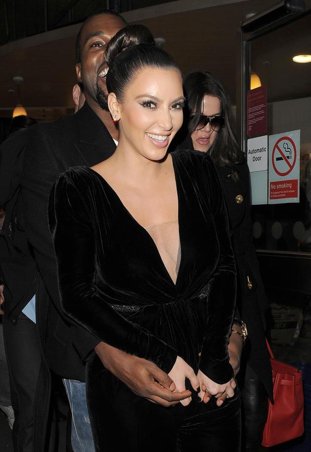 Kim and Kanye Kuddle