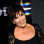 Kris Jenner black lace dress