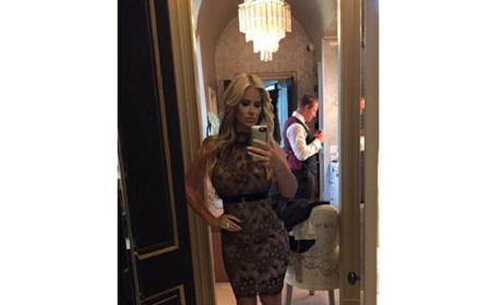 Kim Zolciak cocktail dress selfie