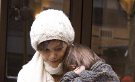 Suri Cruise, TomKat Return to U.S.