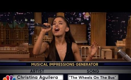 Ariana Grande Impersonates Britney and Christina, Blows Us Away