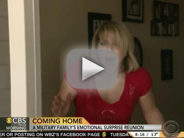 Soldiers Surprise Wife, Son With Returns From Deployment