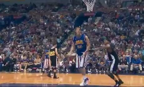Harlem Globetrotters Player Dunks Without Jumping