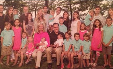 Romney Christmas Card: That's a Lot of Grandkids!