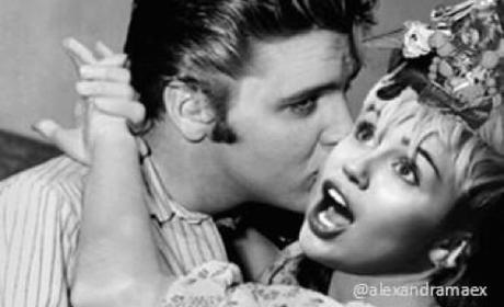Miley Cyrus and Elvis