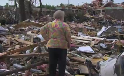 Tornado Survivor Finds Dog Alive Under Debris During Live TV Interview