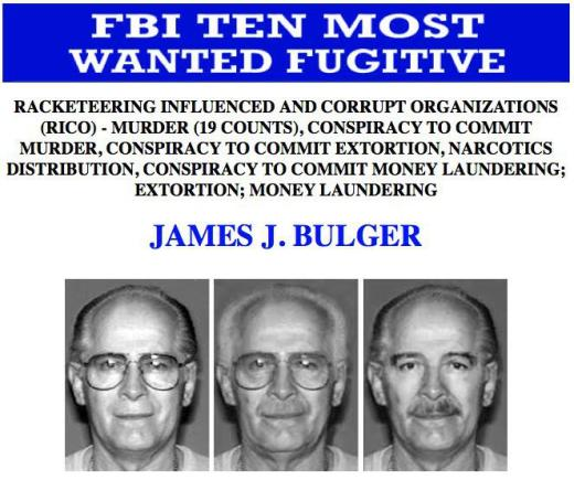 Whitey Bulger Mug Shots