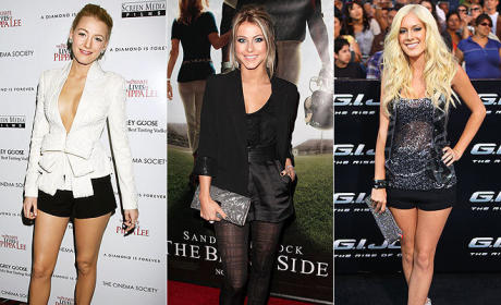 Celebrity Fashion Face-Off: Blake Lively vs. Julianne Hough vs. Heidi Montag