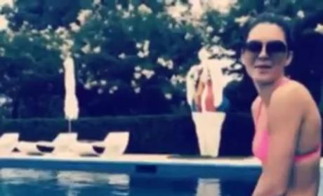 Kendall Jenner Accepts Ice Bucket Challenge, Rocks Pink Bikini, Gets Very Wet