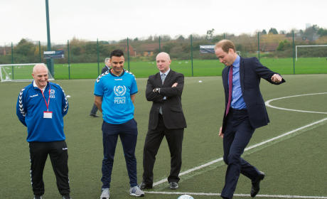 Prince William Takes a Penalty Kick