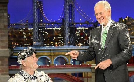 Bill Murray Stumbles from Cake for Final David Letterman Appearance