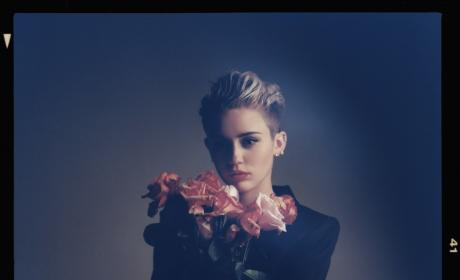 Miley Cyrus with Flowers