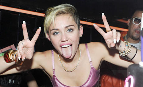 Miley Cyrus at Album Release Party: Kissing Mike Will Made It, Motorboating Amazon Ashley
