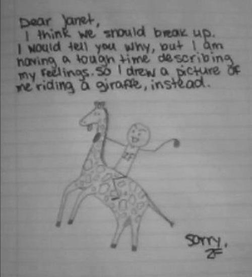 Here's a Giraffe